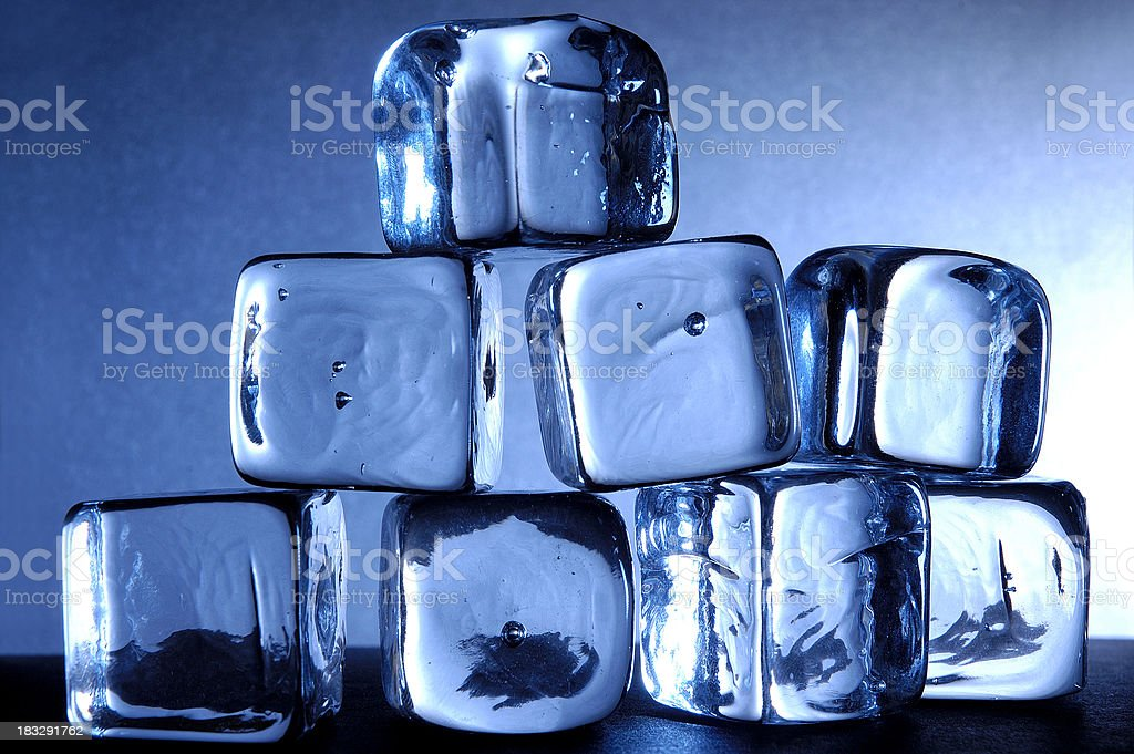 blue ice cubes royalty-free stock photo