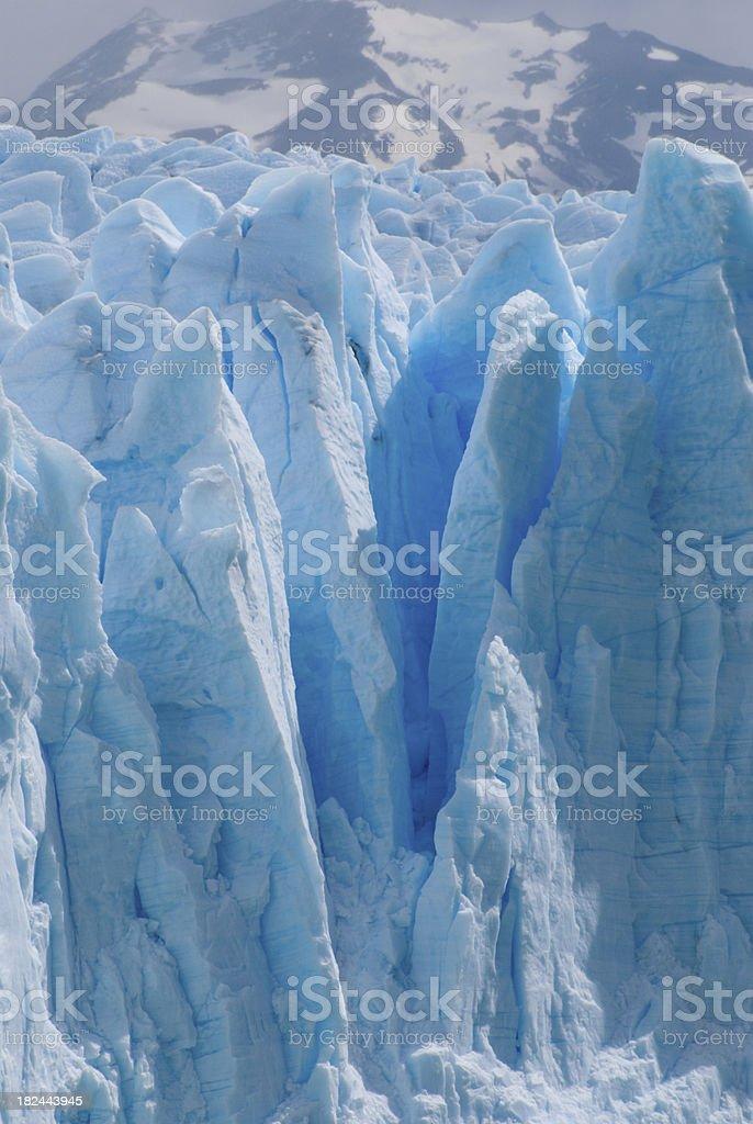 Blue ice details (Perito Moreno Glacier) royalty-free stock photo