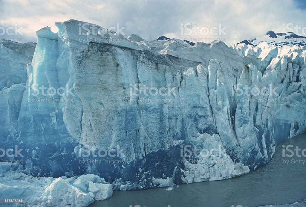 Blue Ice in Alaska stock photo