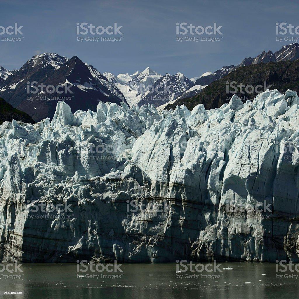 Blue Ice in Glacier Bay stock photo