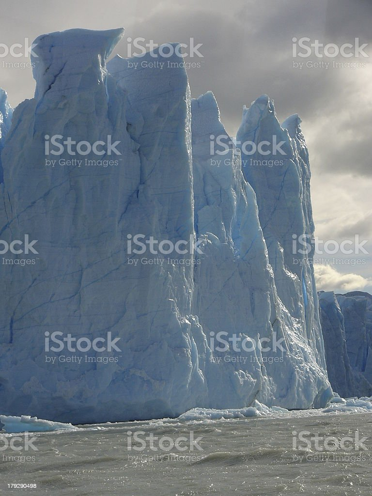 Blue Ice in Patagonia stock photo