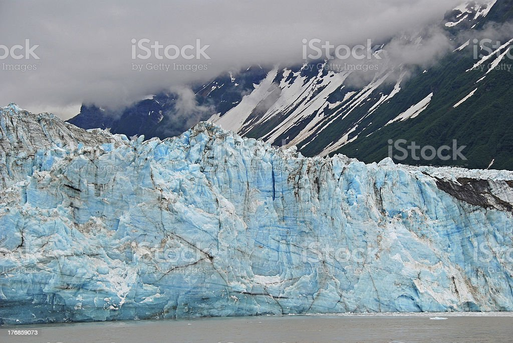 Blue ice in the mountains stock photo