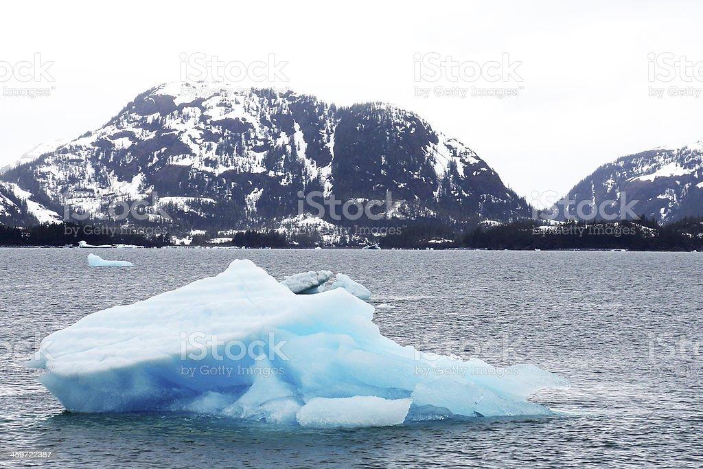 Blue Ice of Alaska stock photo
