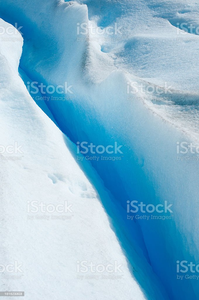 Blue ice of Perito Moreno Glacier, Argentina royalty-free stock photo