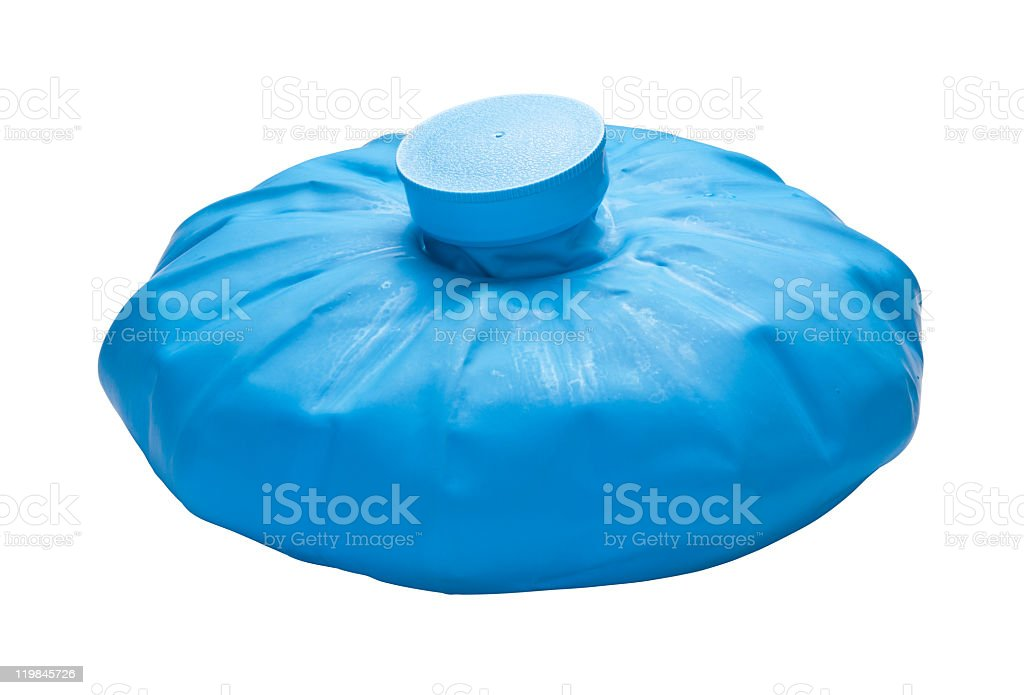 Blue Ice Pack with a clipping path stock photo