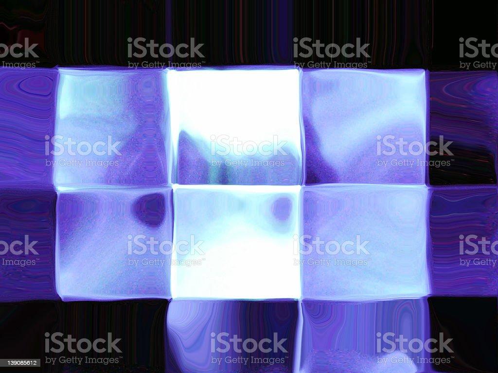 blue icecubes stock photo
