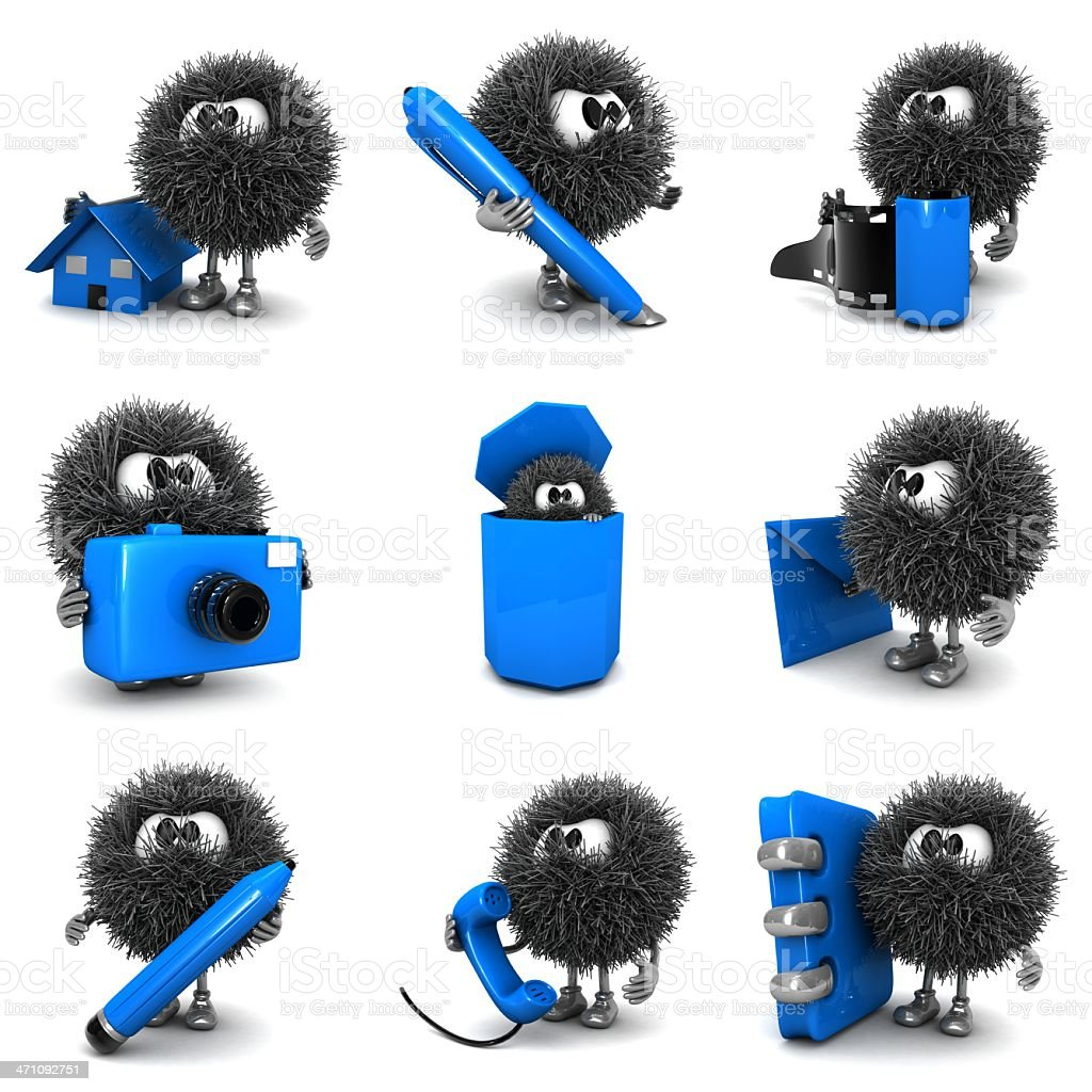 Blue icon and Sphefurs royalty-free stock photo