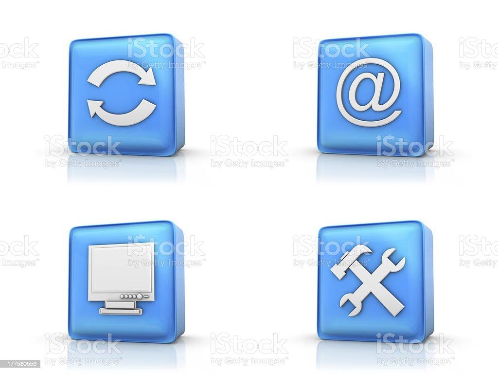 Blue Icon set royalty-free stock photo