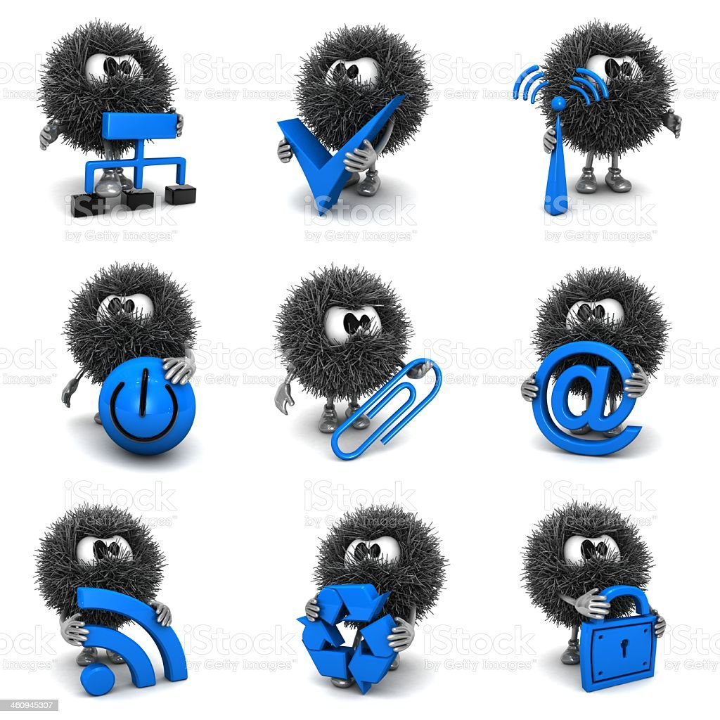 Blue Icons and Sphefurs stock photo