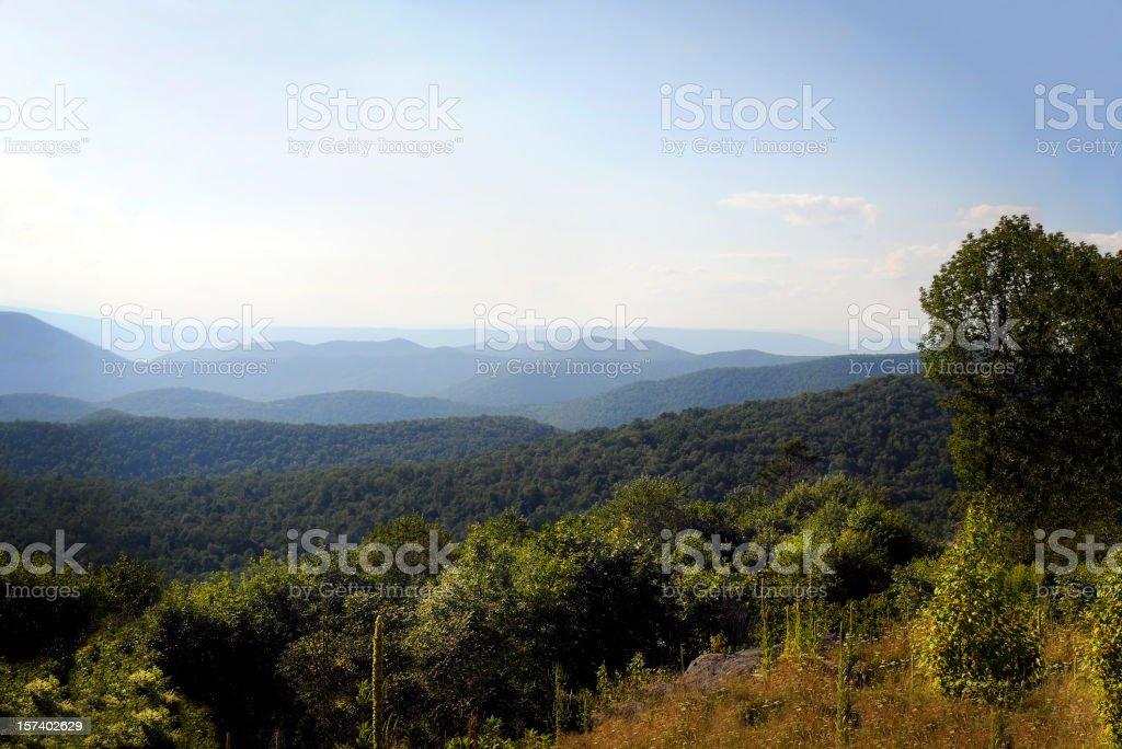 Blue idge Mountains, Appalachians, Virginia royalty-free stock photo