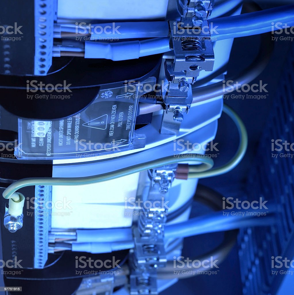 blue illuminated electronics detail royalty-free stock photo