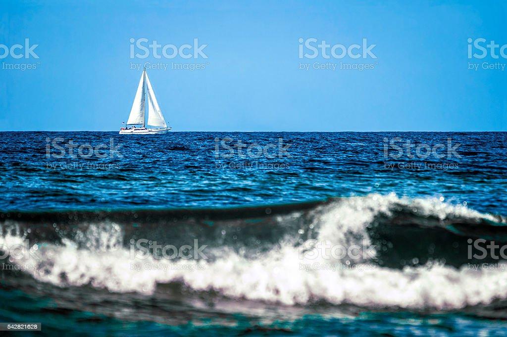 Blue impression stock photo