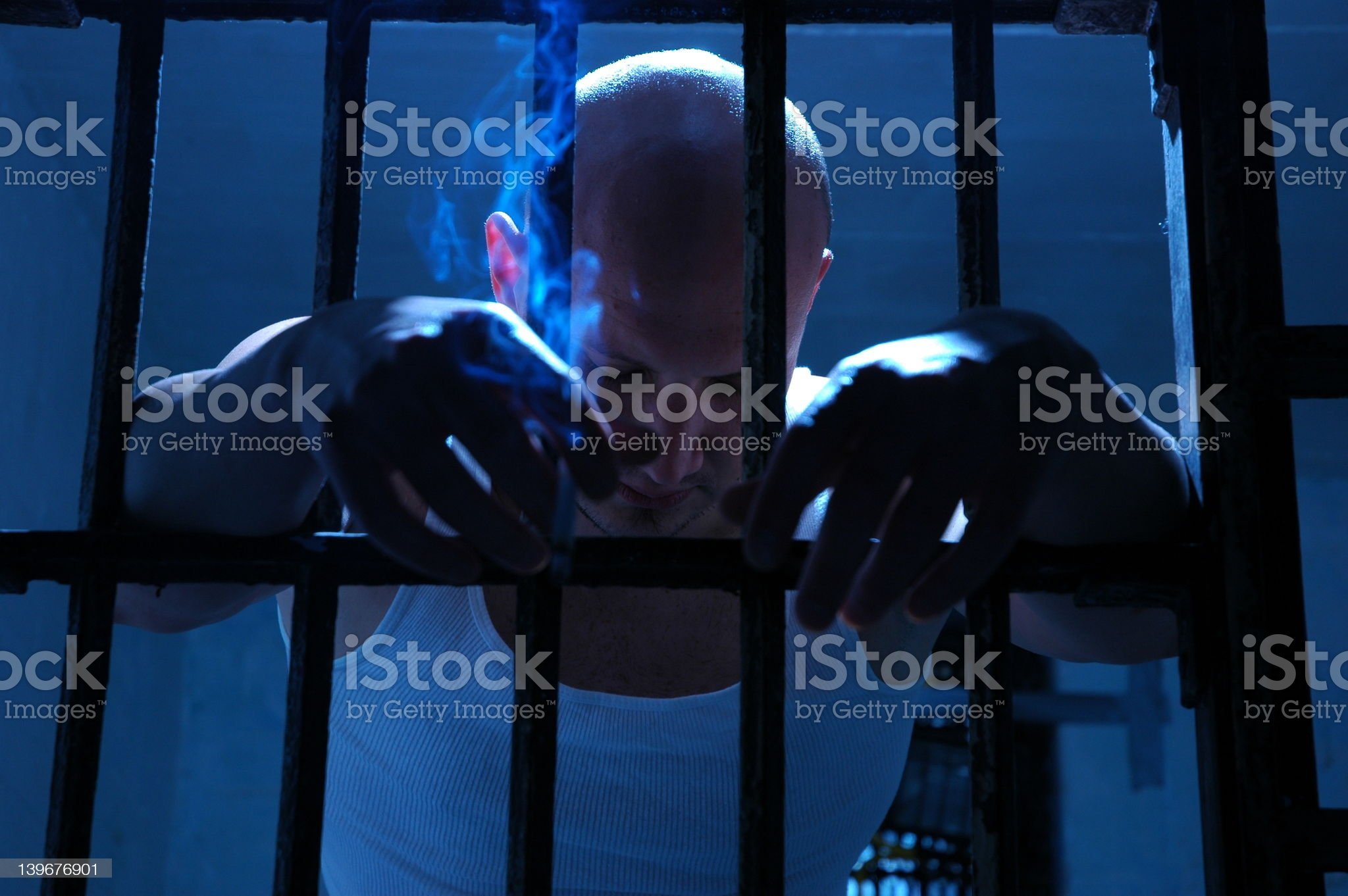 Blue in Jail.. royalty-free stock photo