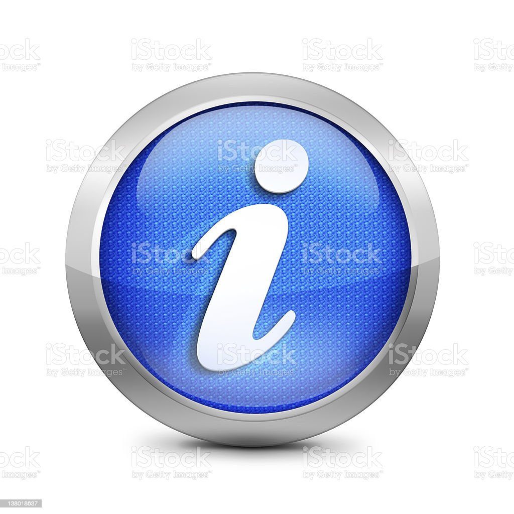 blue information icon stock photo