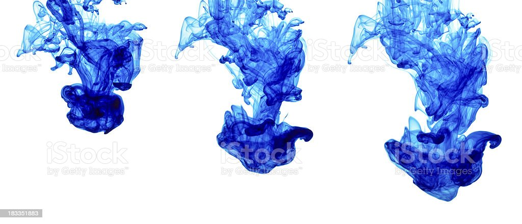 Blue Ink Drop Over Time royalty-free stock photo