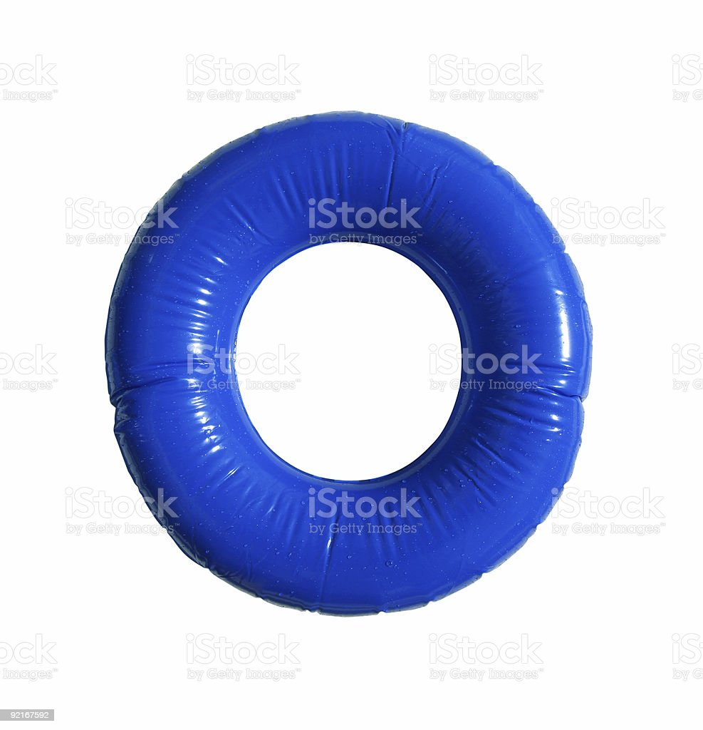 Blue inner tube stock photo