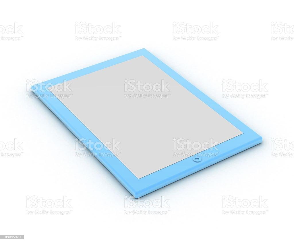 Blue ipad royalty-free stock photo