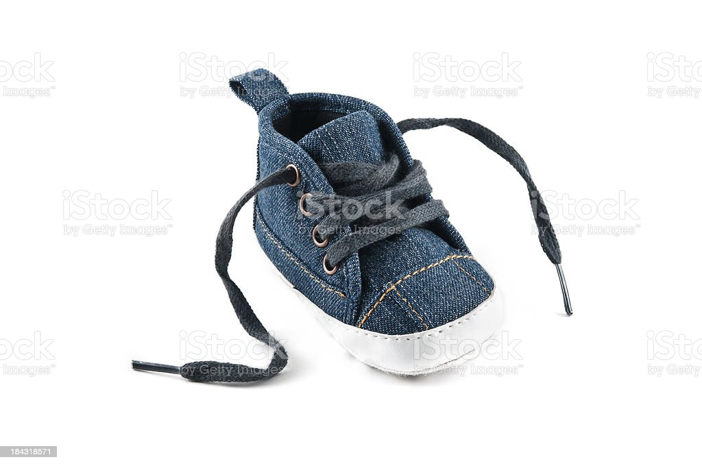 Blue Jean Baby Shoe stock photo