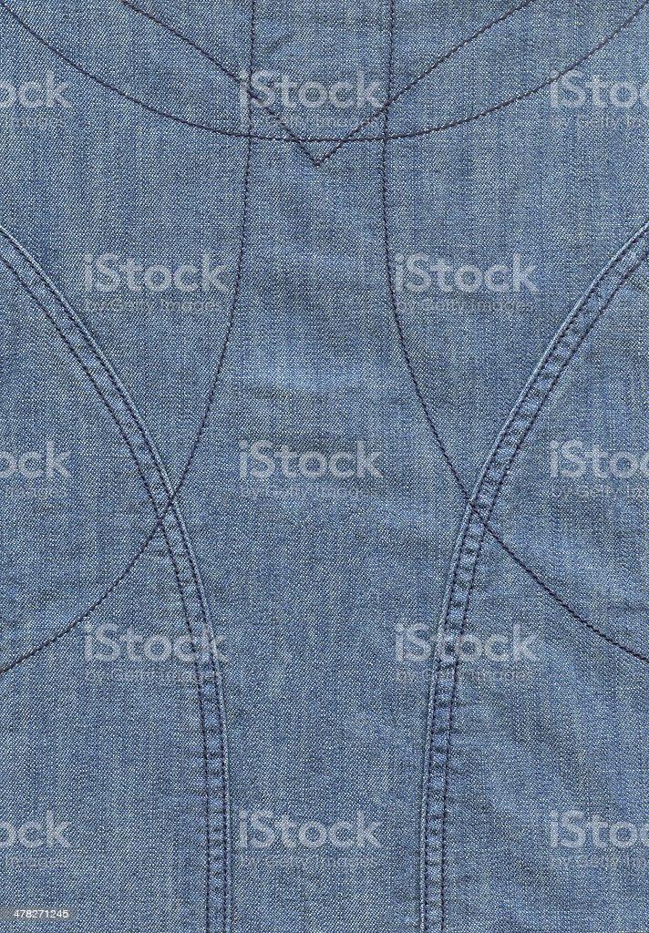 Blue Jean Fabric royalty-free stock photo