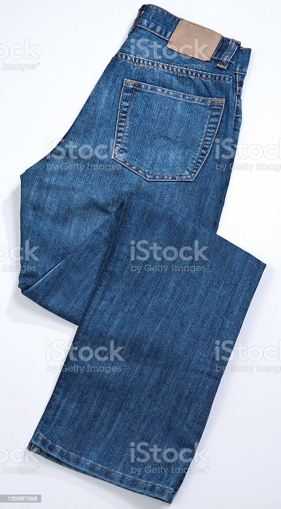 blue jean isolated on white background with path royalty-free stock photo