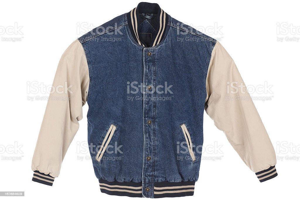 Blue Jean Jacket Isolated royalty-free stock photo