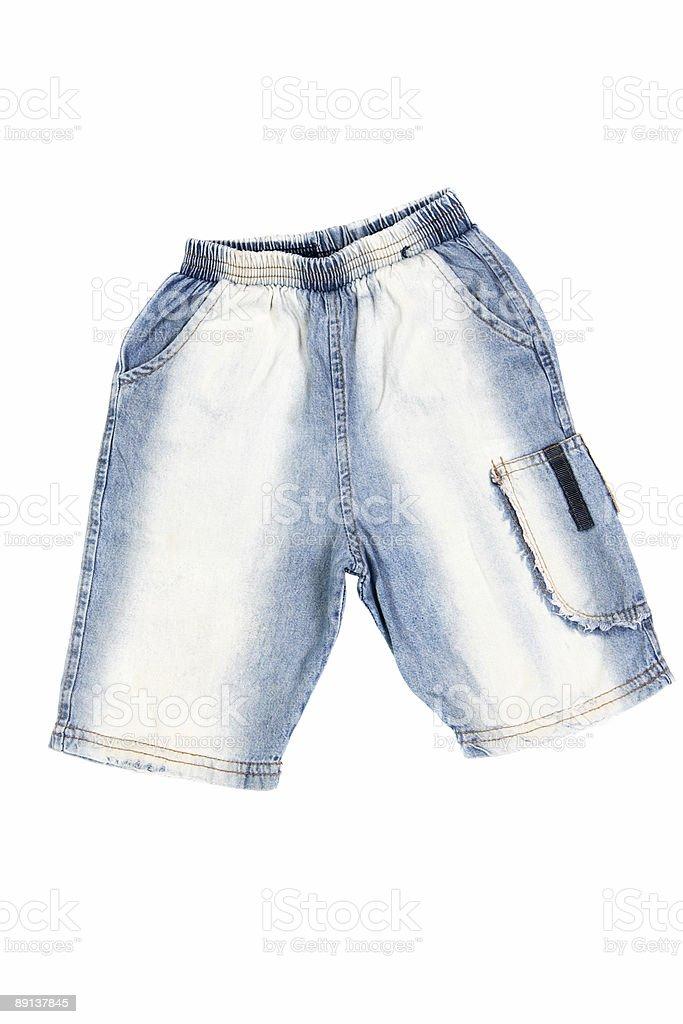 Blue jean shorts stock photo