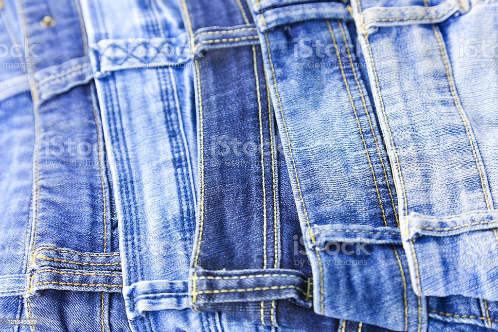 Blue Jeans  background stock photo