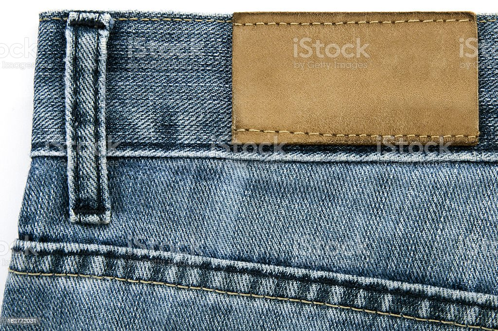 Blue Jeans Blank Label stock photo