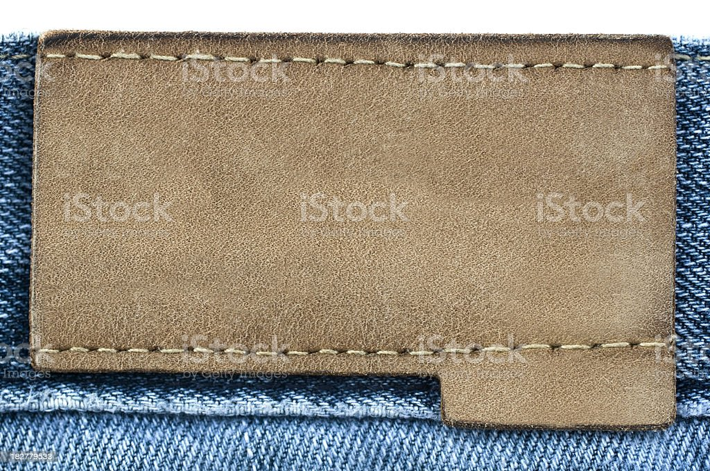 Blue Jeans Blank Lebel royalty-free stock photo
