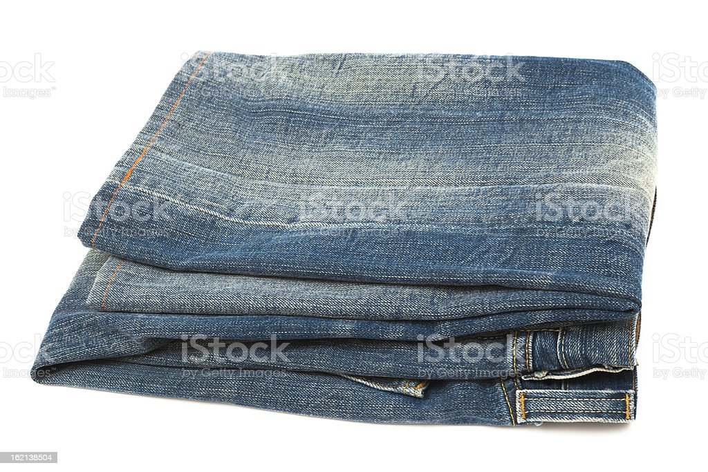 blue jeans close up royalty-free stock photo