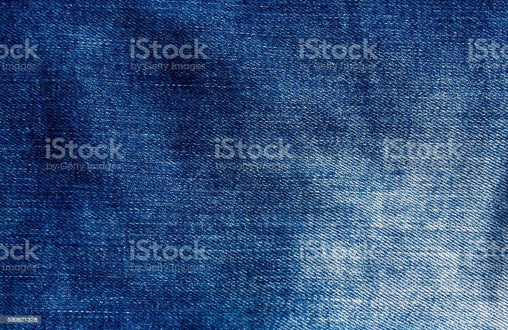 Blue jeans cloth texture. stock photo
