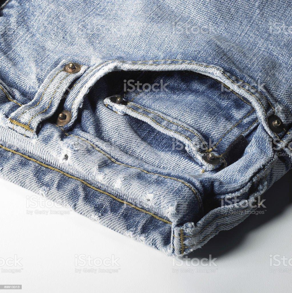 blue jeans detail stock photo