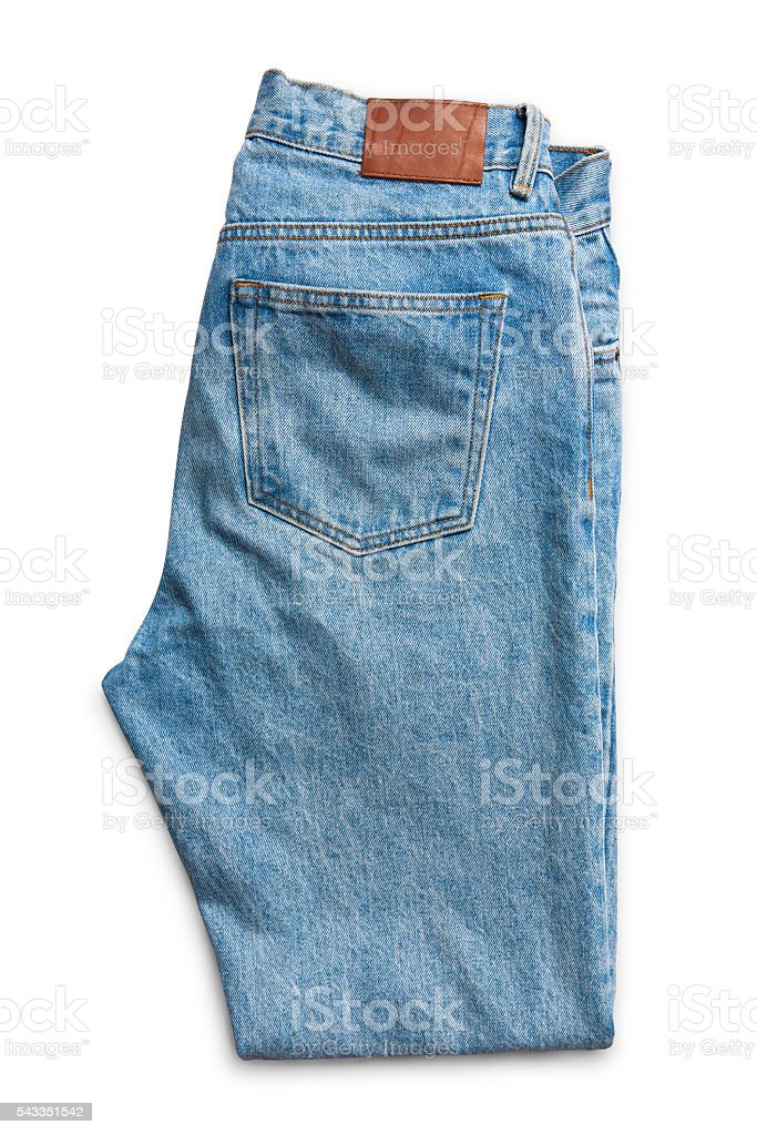 Blue jeans for men and woman stock photo