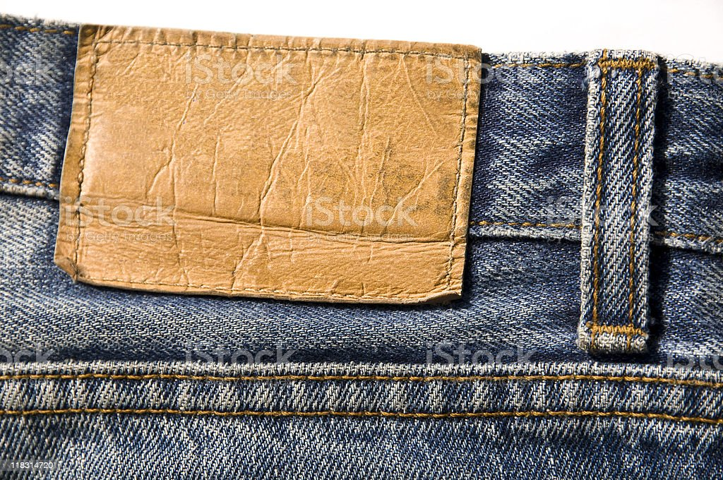 Blue Jeans Label stock photo