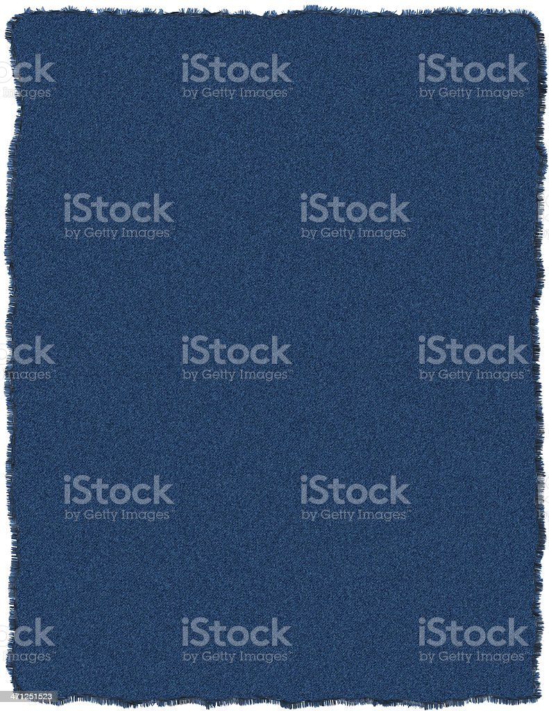 Blue jeans patch stock photo