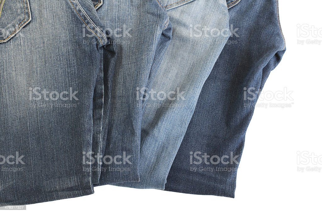 Blue jeans. royalty-free stock photo
