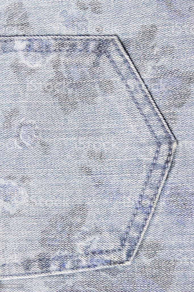 Blue jeans texture can be used as background. royalty-free stock photo