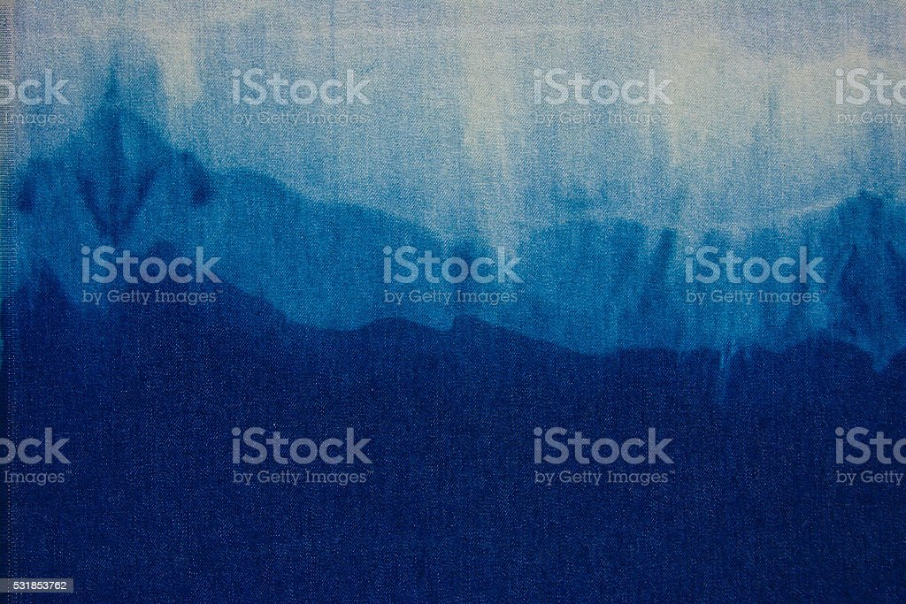 Blue Jeans Texture Deep Blue Background stock photo