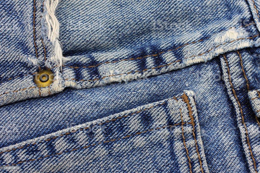blue jeans texture. stock photo
