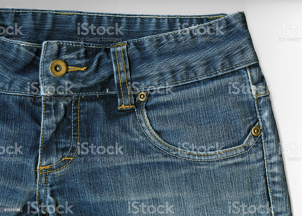 Blue Jeans Top Front stock photo