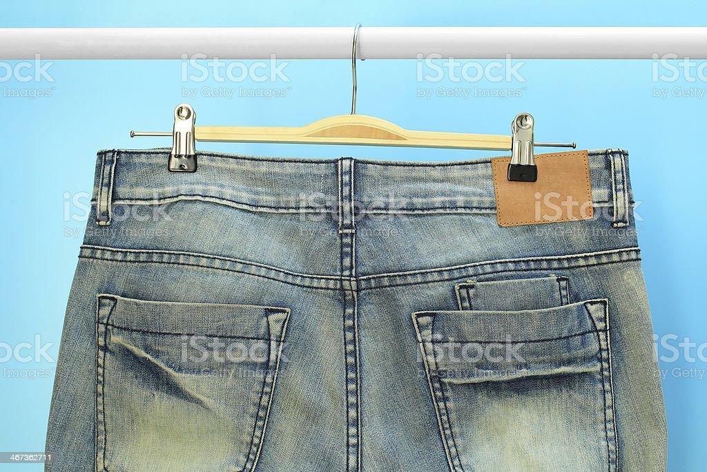 Blue jeans trouser stock photo