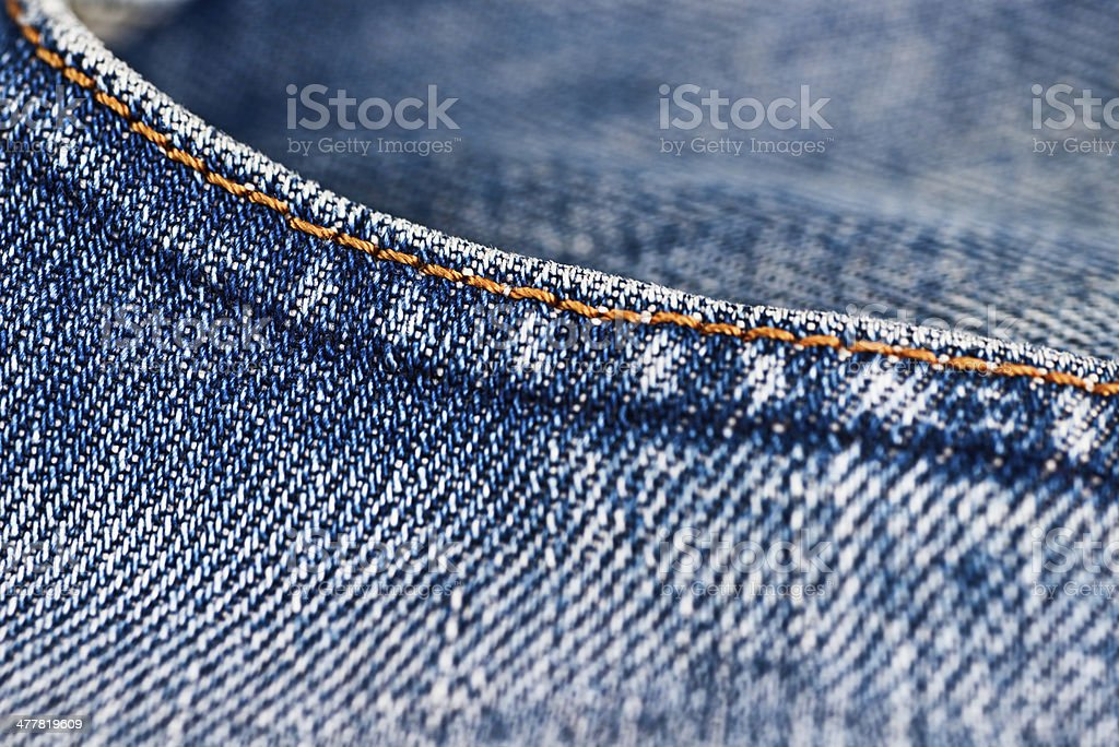blue jeans trousers pocket detail royalty-free stock photo