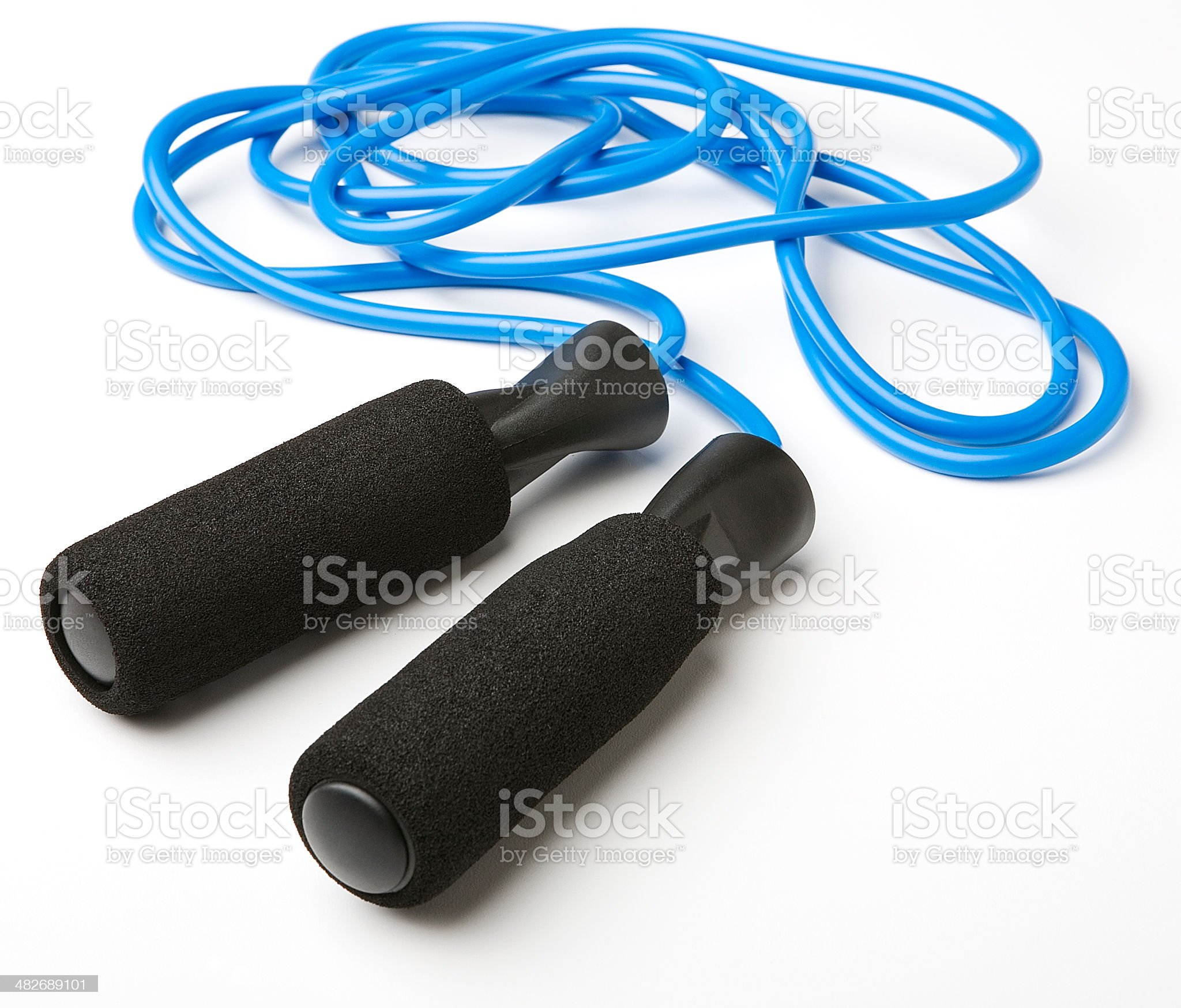 blue jump rope royalty-free stock photo