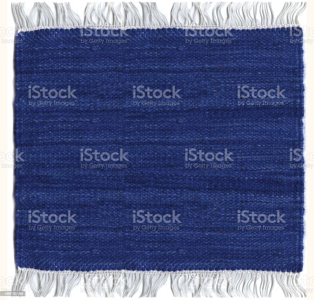 Blue Jute carpet stock photo