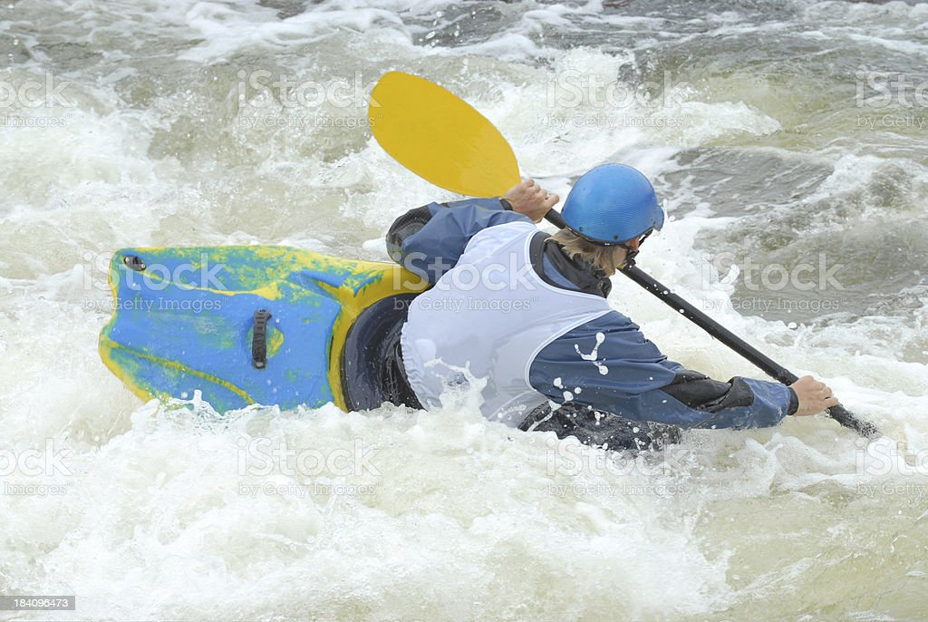 Blue Kayaker royalty-free stock photo