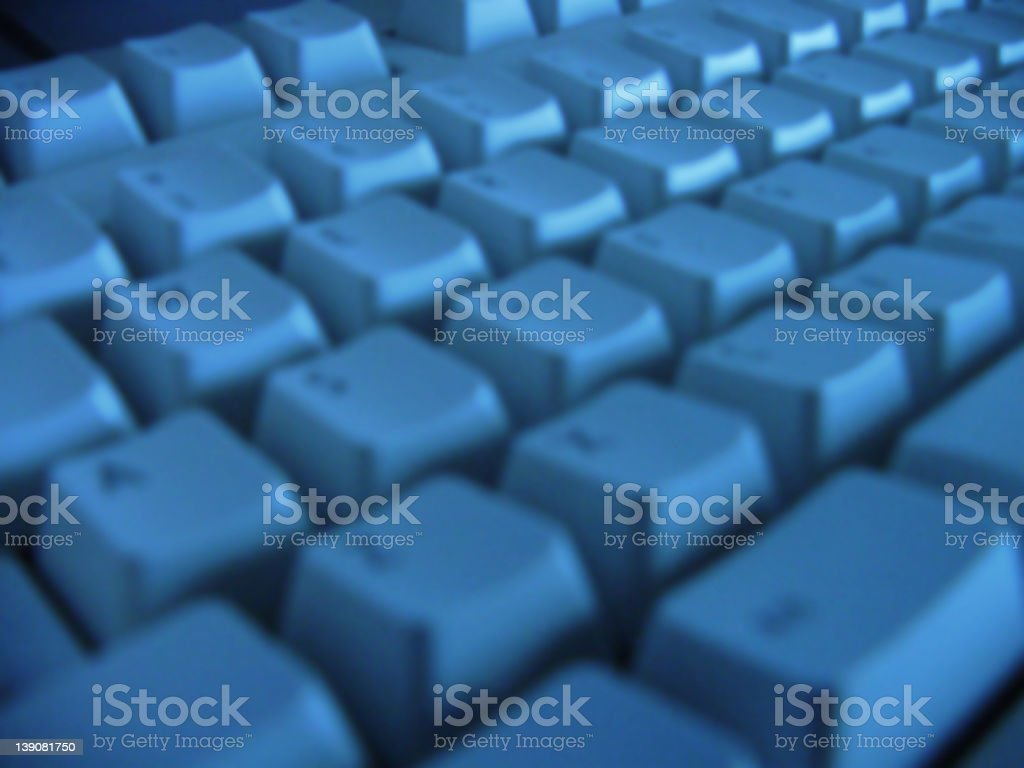 Blue Keyboard Blur 1 royalty-free stock photo