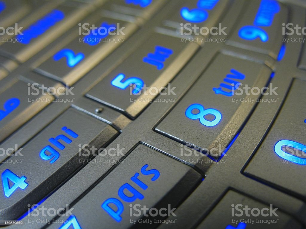 blue keys royalty-free stock photo