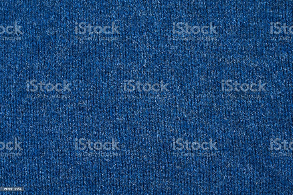 Blue knitted sweater stock photo
