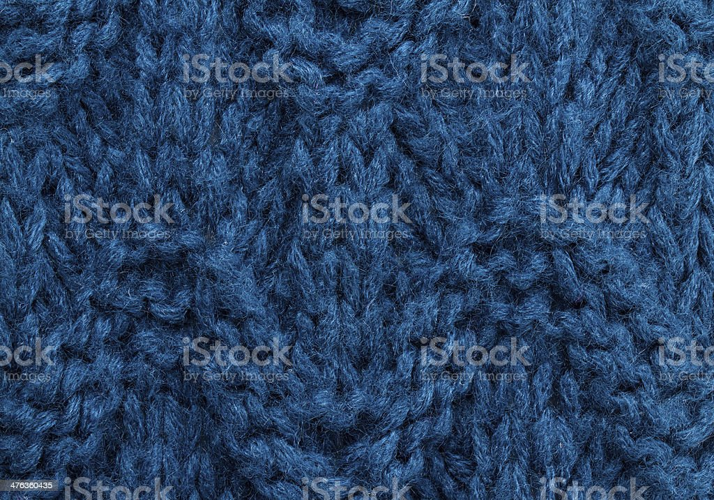 Blue  knitting background texture. Knit woolen Fabric textile royalty-free stock photo
