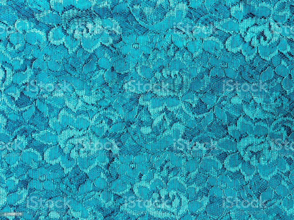 Blue lace fabric texture stock photo